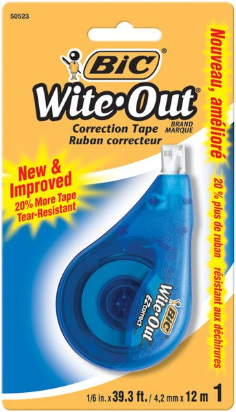 """wite out ez correct tape - 0.166"""" x 39.3 feet"""