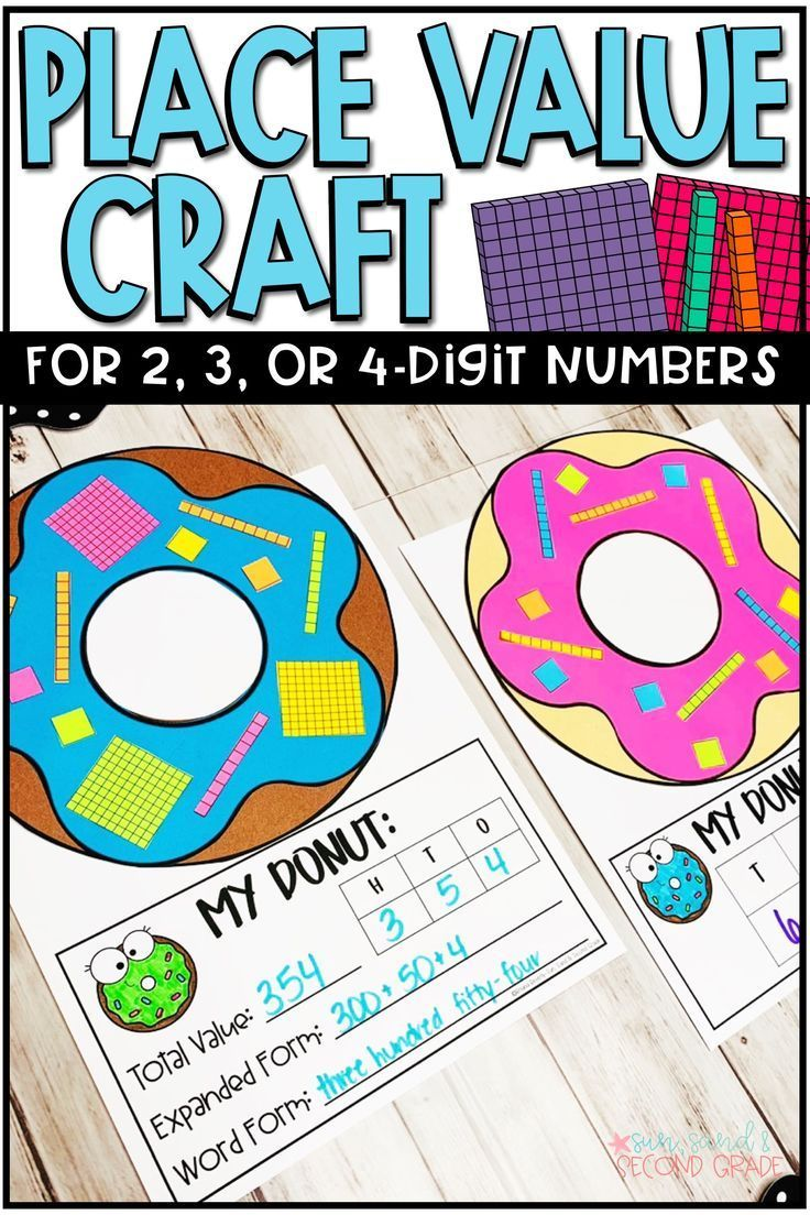 Place Value Activity Donuts Place Value Craft 2nd Grade Math First Grade Math Second Grade Math [ 1104 x 736 Pixel ]