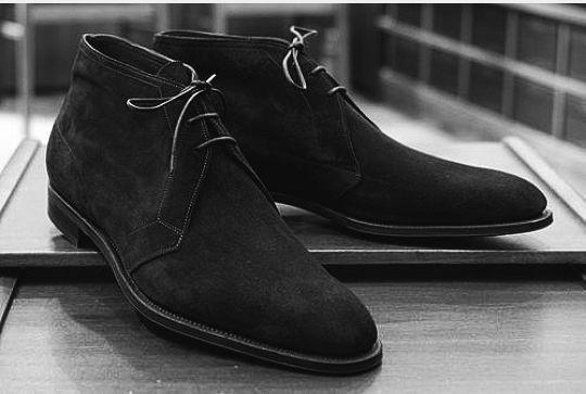 Handmade Mens Black suede chukka boots, Men Black laceup suede leather boot #Handmade #Chukkaboot