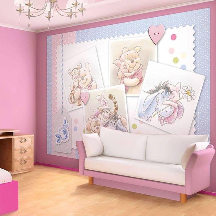 Luxury Babyzimmer Unglaublich s e Vlies Fototapete mit Winnie Pooh und seinen Freunden Wirkt