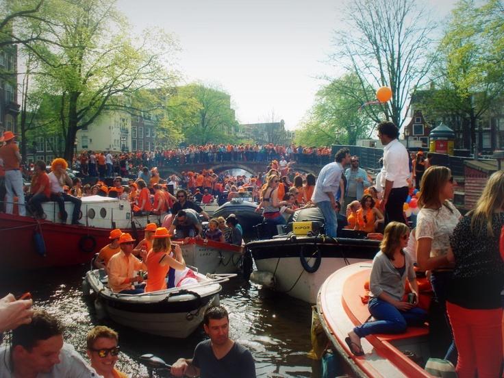 A Amsterdam, fêter King's Day