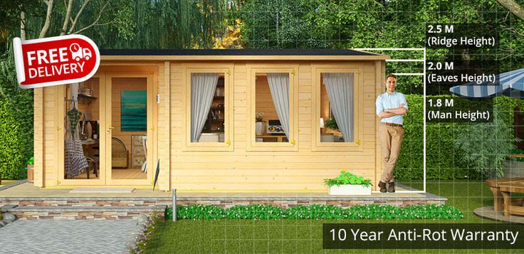 BillyOh Kent Garden Office - Garden Log Cabins - Garden Buildings Direct
