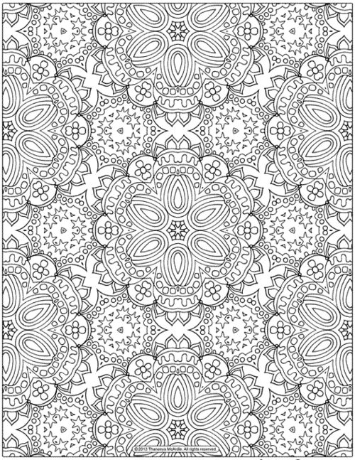 Free Abstract Patterns Coloring Page for Grown-Ups