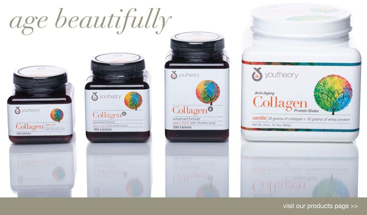 Youtheory™ by Nutrawise™ Collagen supplements to help support healthy skin, hair, nails, bones and cartilage.  Absolutely GREAT product line.