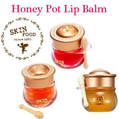[ SKINFOOD ] HONEY POT LIP BALM  6.5g #3 Honey   Korean cosmetics - This are so cute!