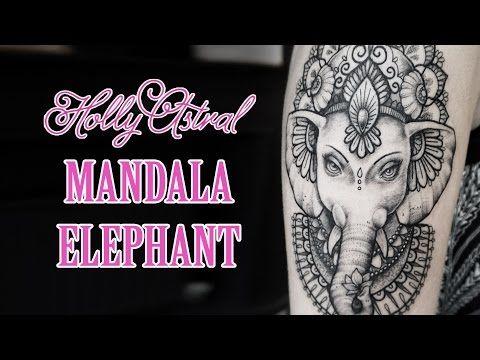 MANDALA ELEPHANT Tattoo Timelapse - YouTube