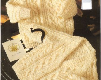 Items similar to Knit Baby Cardigans and sweater Round neck and V-neck Vintage Knitting Pattern 19 inch chest Matinee jacket jumper PDF Instant Download on Etsy