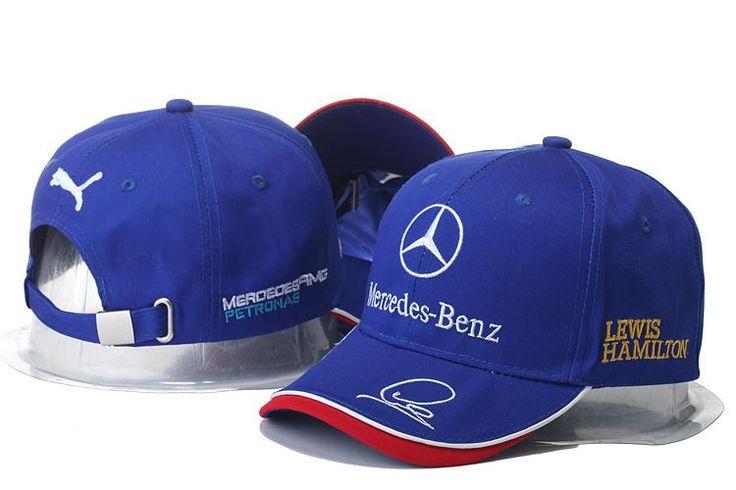 Mens / Womens Unisex Mercedes Benz x Puma AMG PETRONAS F1 LEWIS HAMILTON Baseball Adjustable CAP - Blue / White