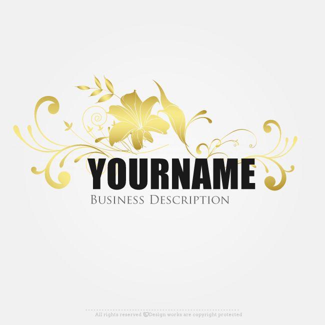 Online Logo Creator – Gold Leaf Logo Template