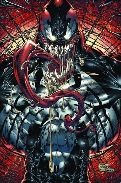 VENOM DARK ORIGINS issue no. 4 -Published by Marvel Comics, Written by Zeb Wells, Art by Angel Medina.  The penultimate issue in this mini-series, and boy is it a whopper. Venom takes the fight home to casa de Parker.