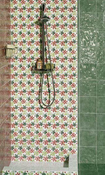 Offer #Mainzu #Vitta Menta Cenefa Fiore decoro 10x20 cm | #Ceramic #Decor #10x20 | on #bathroom39.com at 2 Euro/sqm | #tiles #ceramic #floor #bathroom #kitchen #outdoor
