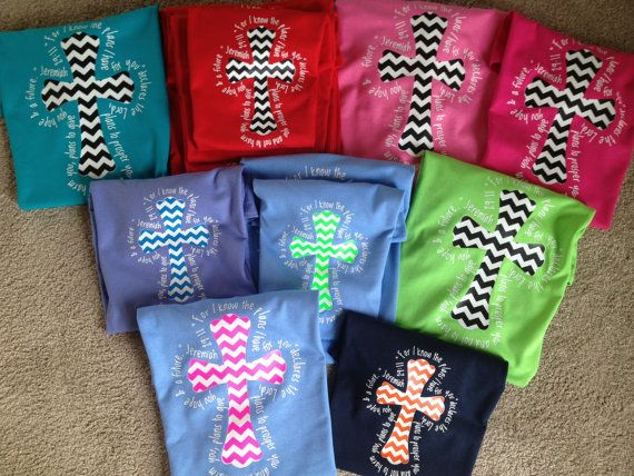 Chevron Cross TShirts with Jeremiah 2911 by Matterbaby on Etsy, $15.00