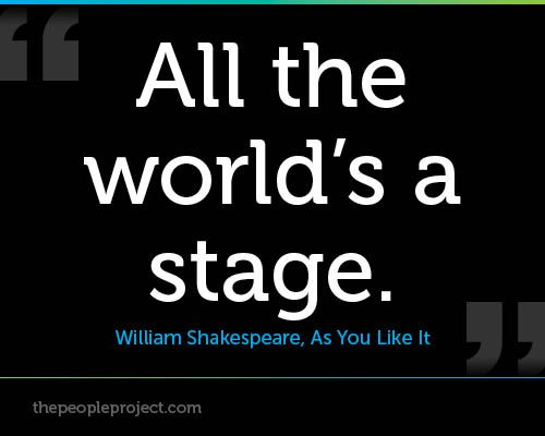 Quotes By Shakespeare About Acting : All the world s a stage william shakespeare as you