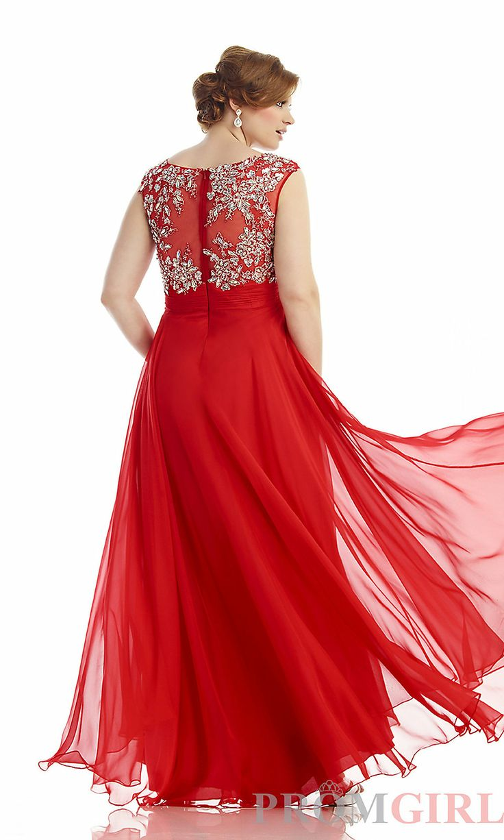 Prom Dresses, Celebrity Dresses, Sexy Evening Gowns - PromGirl: Long Sweetheart Plus Size Formal Gown
