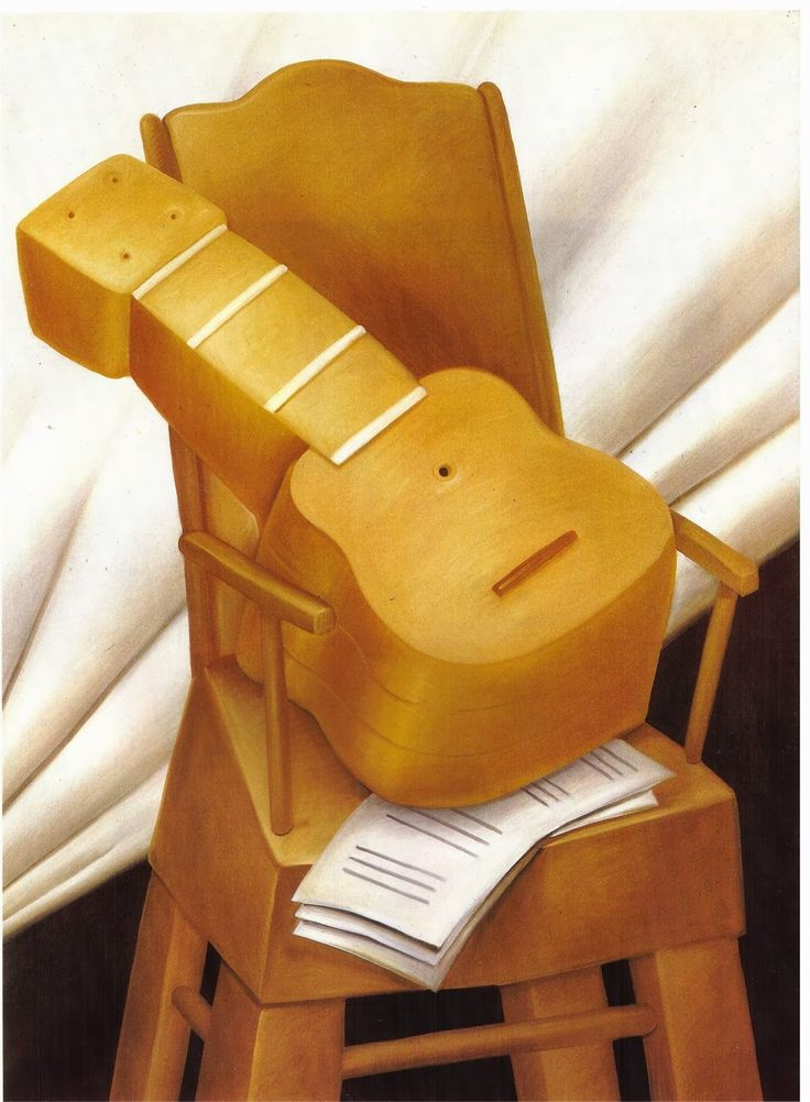TICMUSart: Guitar and Chair - Fernando Botero (1983) (I.M.)