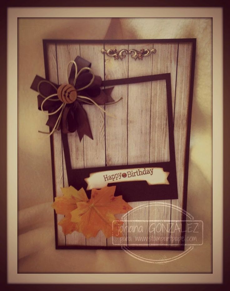 Card otoño happy birthday