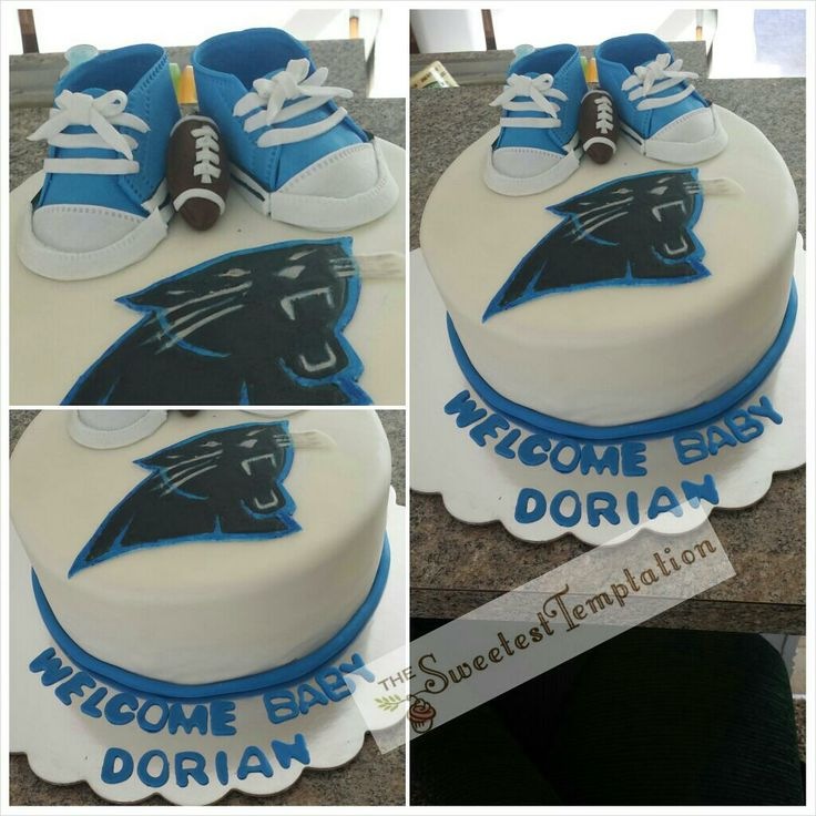 Carolina Panthers Baby Shower Cake