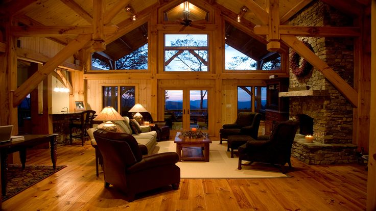 Timber frame homes in the midsize range. Inspiration for the perfect plan for your growing family or for your retirement home.