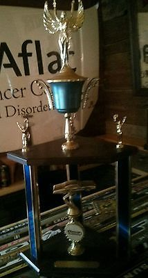 Vintage Delaware Speedway 2nd place points Trophy Ron Ling 1984