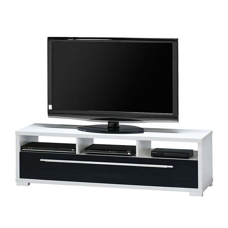 tv bank mayla wei hochglanz schwarz maja m bel jetzt bestellen. Black Bedroom Furniture Sets. Home Design Ideas