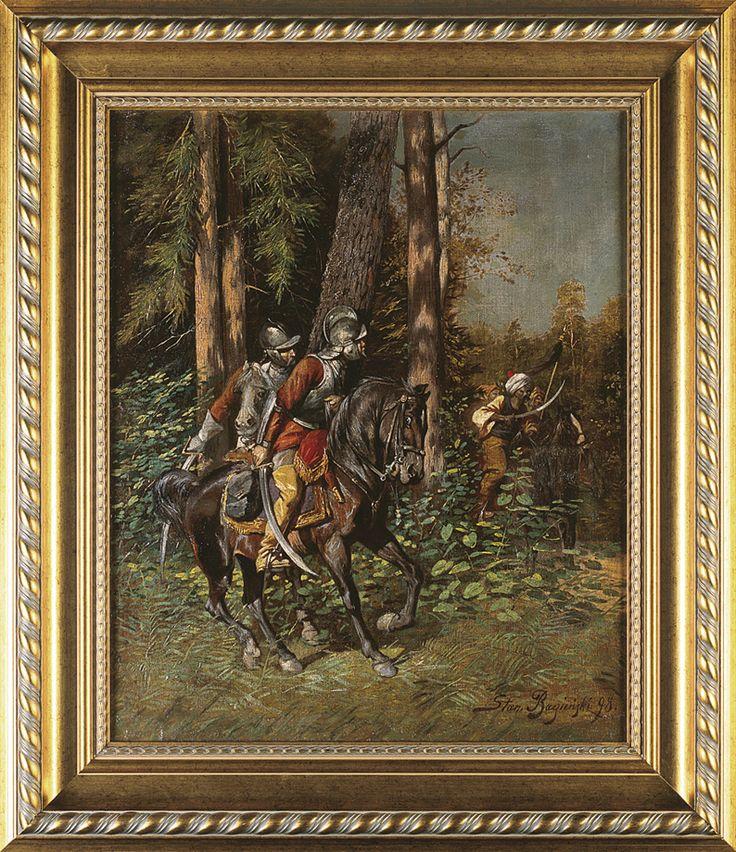Bagieński Stanisław . ZASADZKA, 1898  olej, płótno, 61.5 x 50.5