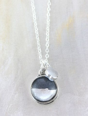 Petite Silver Foil Necklace by Cloud Nine Creative  www.cloudninecreative.co.nz