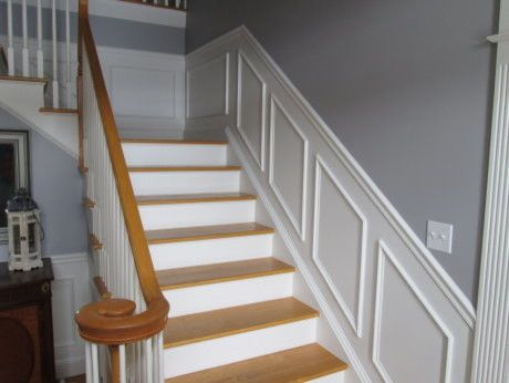 Wainscoting up the stairs