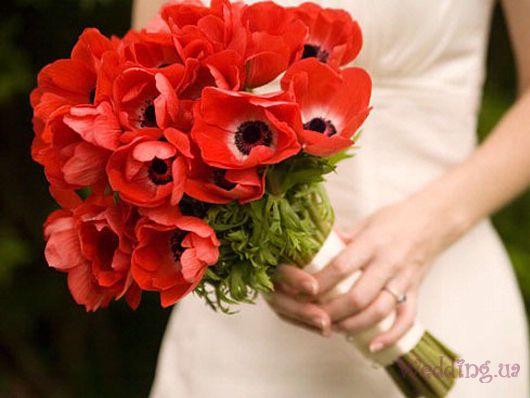 Свадебный букет из маков