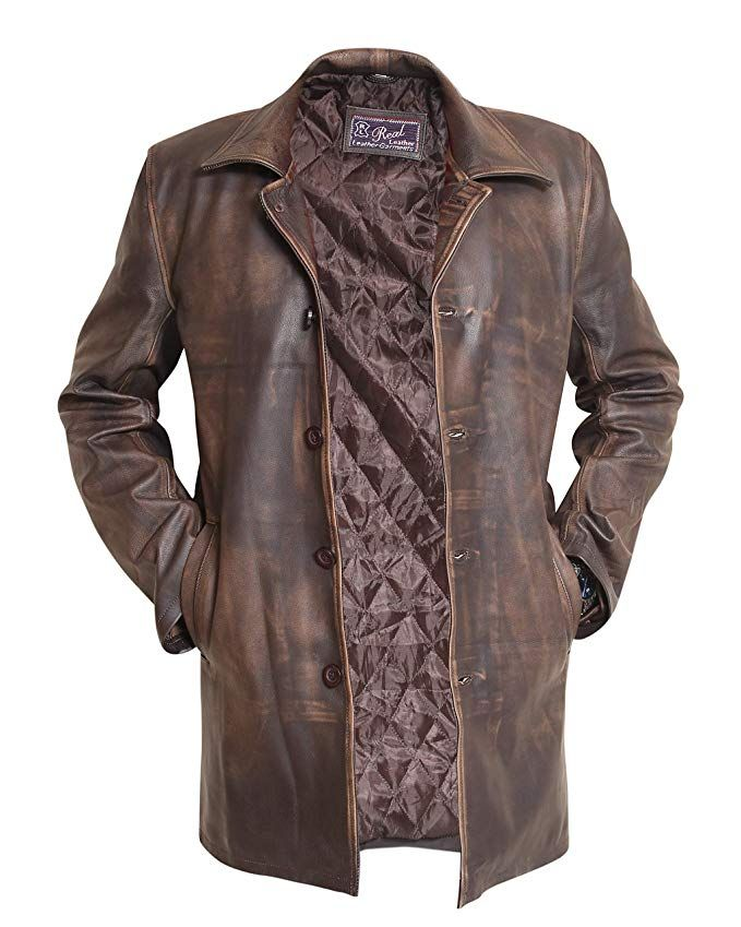 ea56cdac Dean Winchester Supernatural Distressed Brown Real Cowhide Leather Jacket  Coat Review
