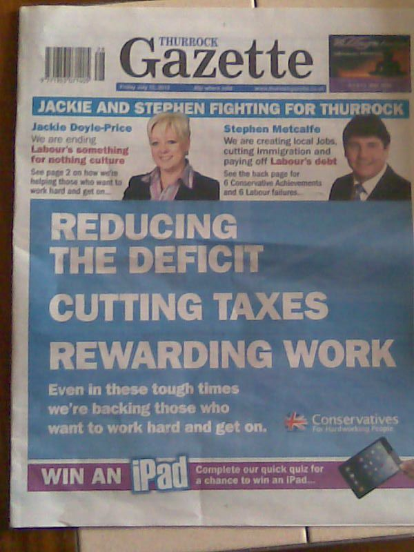 Good old impartial Thurrock Gazette