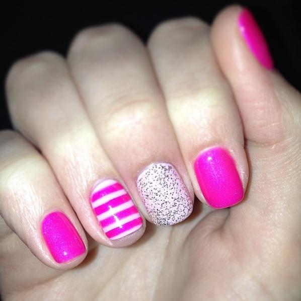 My latest nail inspiration.. Victoria's Secret nails ;) #victoriassecret