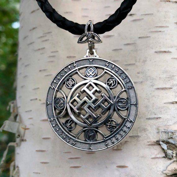 Spiritual Strength Silver pendant Handmade pendant  Viking pendant