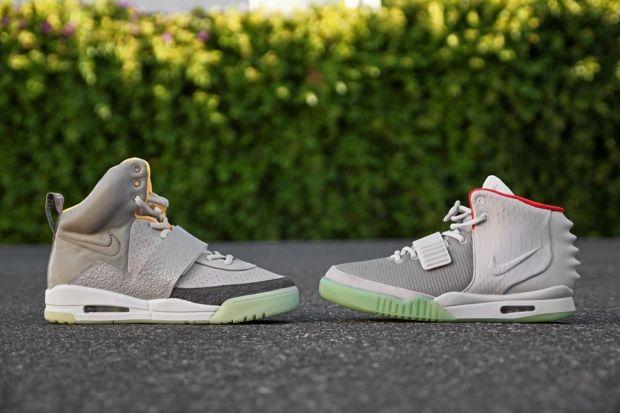 Nike Air Yeezy Zen Grey/Light Charcoal X Nike Air Yeezy 2 Wolf Grey/Pure Platinum