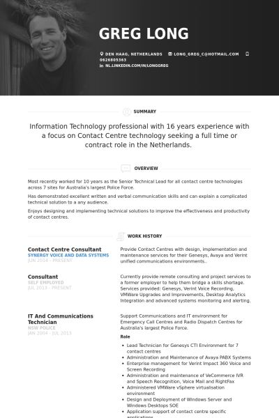 60 best Resume images on Pinterest Resume design, Resume - it consultant resume example