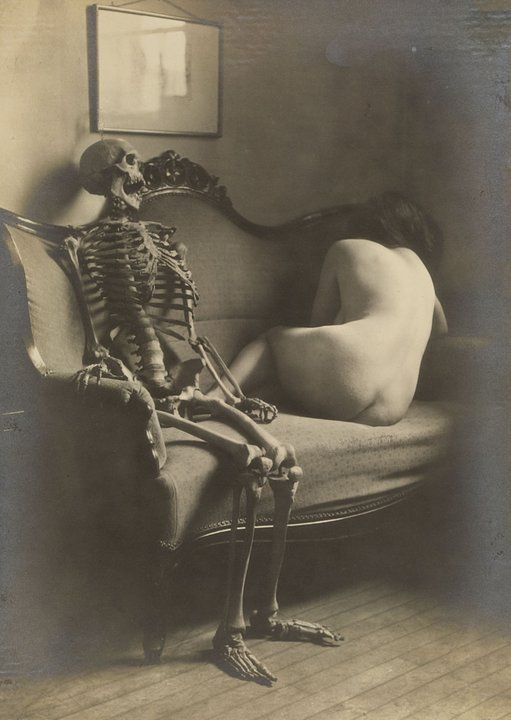 Death and the Maiden, vintage photography