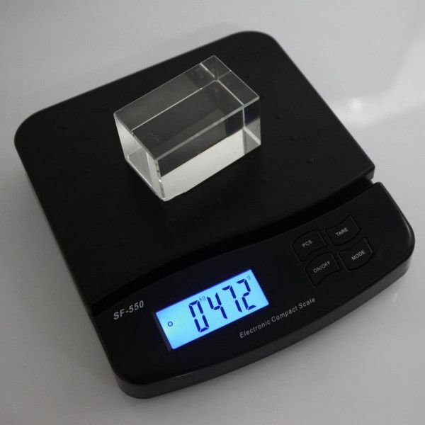 25KG/1G SF-550 Portable LCD 5 Digits Plastic Electronic Scale Black