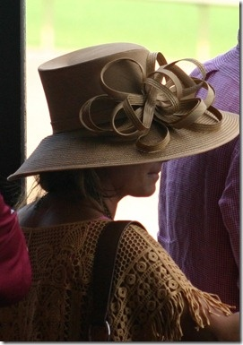 The hats of the Arkansas Derby. Fun times!