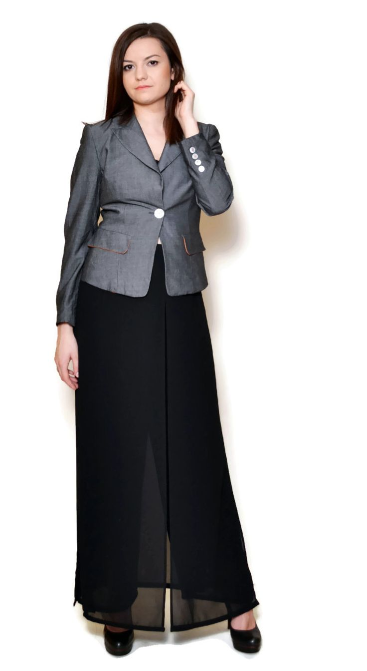 grey blazer outfit work chic  US$44.95