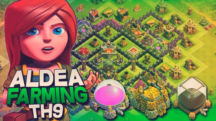 Diseño de Aldea Ayuntamiento nivel 9 TH9 FARMING | Clash of Clans en Esp...