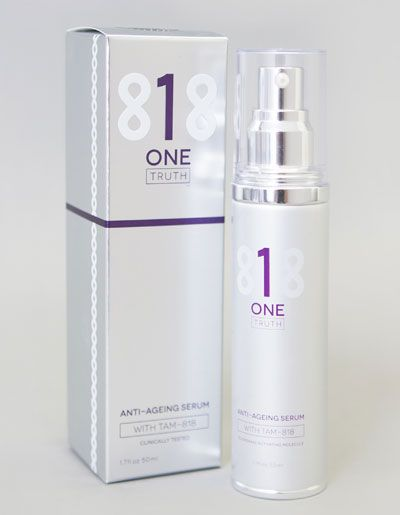One Truth 818 anti ageing skin serum  is the world's only clinically proven skin serum containing the TAM-818 molecule.  The TAM-818 molecule – the crucial ingredient of One Truth 818 – was identified during 20 years and $33 million of research by Dr Bill Andrews' Sierra Sciences. For the first time, anywhere in the world, that very compound is available in a skin serum.