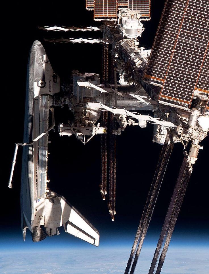 Space Shuttle Atlantis docked to MIR