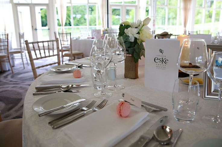 Table detail lough eske donegal wedding photography