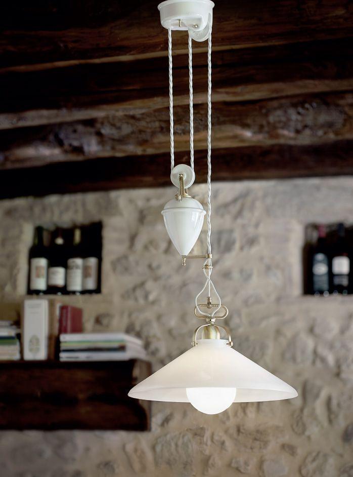 Lampade per interni in ceramica serie tenda aldo bernardi