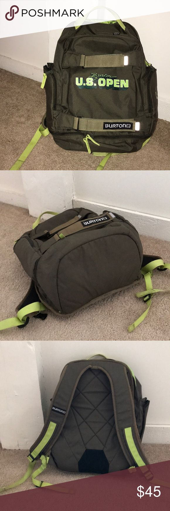 Burton green backpack Very good condition Burton Bags Backpacks
