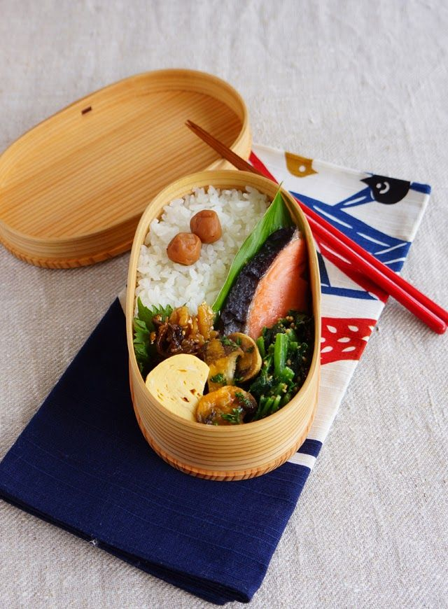 R journal: 鮭弁当・Grilled salmon bento