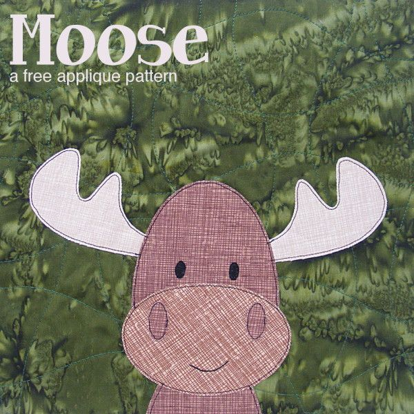 Free Moose Applique Pattern from Shiny Happy World