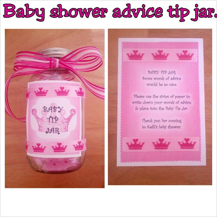 Baby Shower Idea...Baby Tip Jar. Everyone Has Helpful Tips