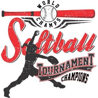 vector graphic softball tournament champions for t shirt designs - Softball Jersey Design Ideas