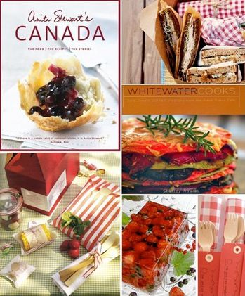 canada day party menu :: anita stewart's Canada :: whitewater cooks :: picinic dishing :: red gingham theme