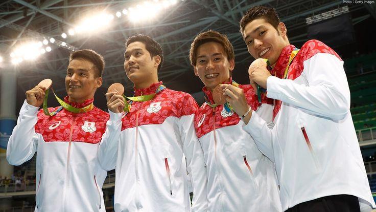 競泳男子800mリレーで銅メダル 1964年東京オリンピック以来、52年ぶりの快挙!